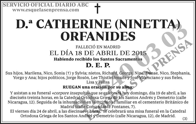 Catherine (Ninetta) Orfanides